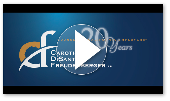 Carothers Disante & Freudenberger's Anniversary